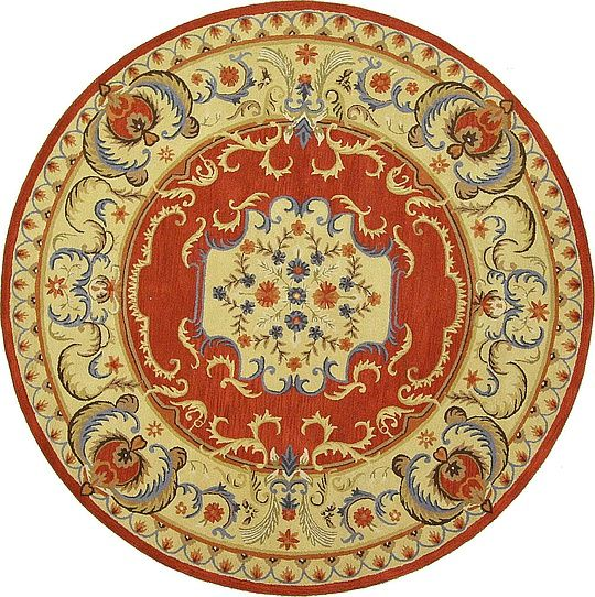 Red 12 2 X 12 2 Classic Aubusson Rug Area Rugs Esalerugs Rugs Aubusson Rugs Area Rugs