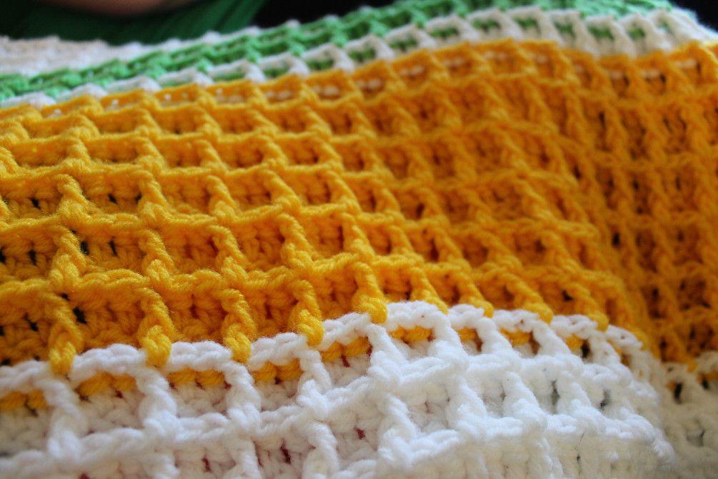Waffle Stitch Crochet Tutorial | Colchas tejidas, Colchas y Manta