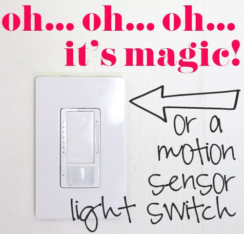 Motion Sensor Light Switch For The Pantry And Bathrooms