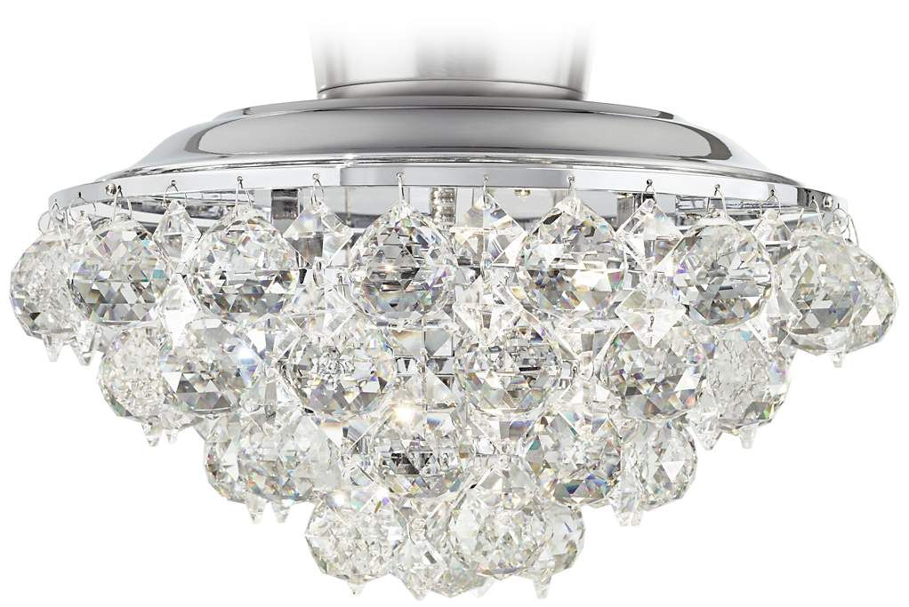 Clear Crystal Ball Chrome Universal Ceiling Fan Light Kit 8r575 Lamps Plus With Images