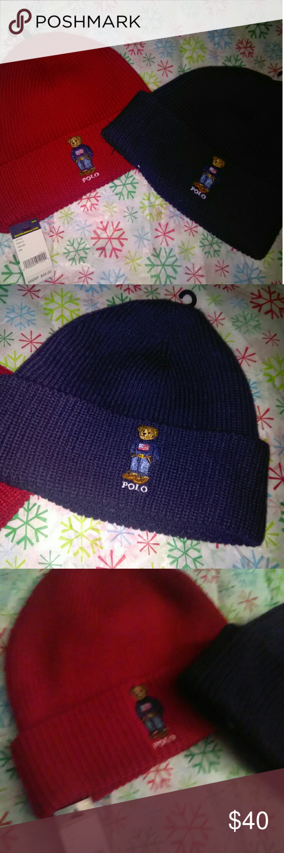 e1147ffa5 Ralph Lauren polo beanie hat choose your color new New authentic ...
