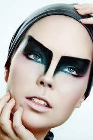 geometric makeup vogue - Google Search