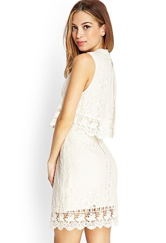 Crochet Lace Flounce Dress | FOREVER 21 - 2000083441