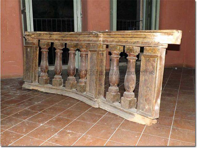 Balaustra altare chiesa antica balaustra in legno noce del for Arredo chiesa