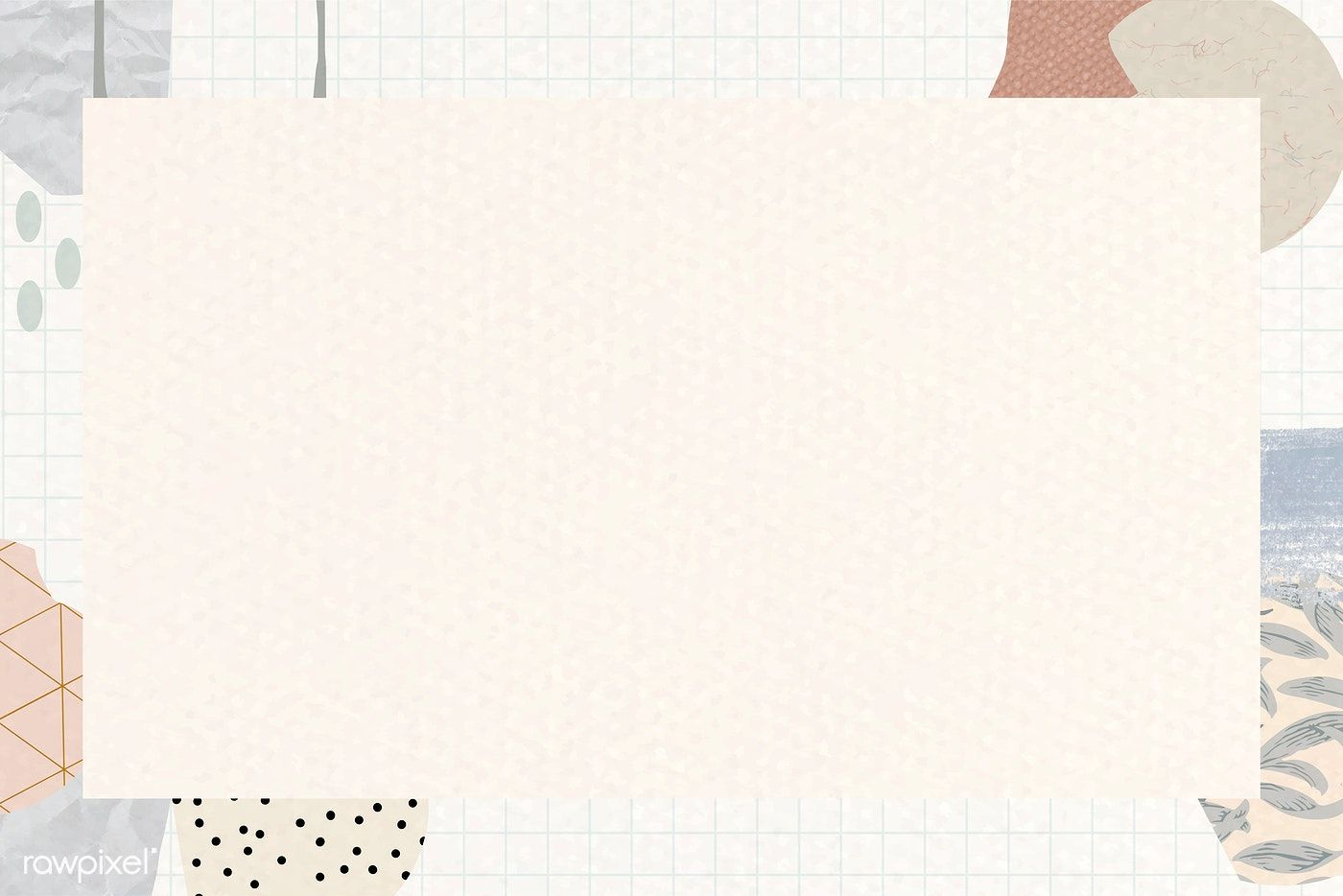 Download premium vector of Terrazzo frame on beige ...