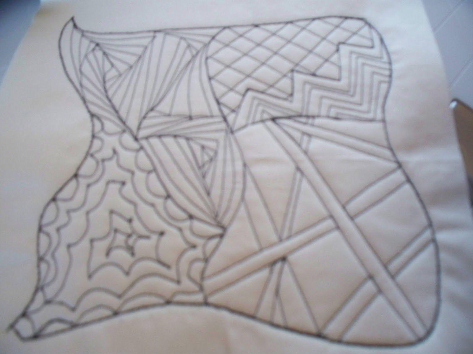Sewn design- practice block