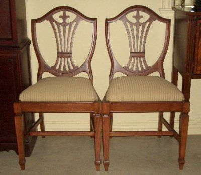Shield back Duncan Phyfe chair Antique chairs, Duncan