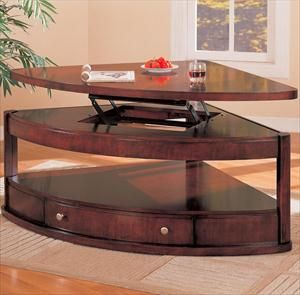 Picture Of Wedge Shaped Lift Top Coffee Table Sectional Coffee