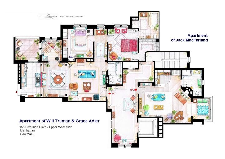 Detailed Floor Plan Drawings of Popular TV and Film Homes    Detailed Floor Plan Drawings of Popular TV and Film Homes  Breakfast at Tiffanys   Imgur   Set Design   Pinterest   Breakfast At Tiffanys