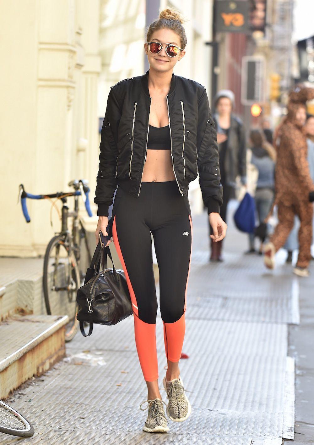 2fdafa01ff2 Gigi Hadid totally makes the sports bra look chic with this ensemble ...