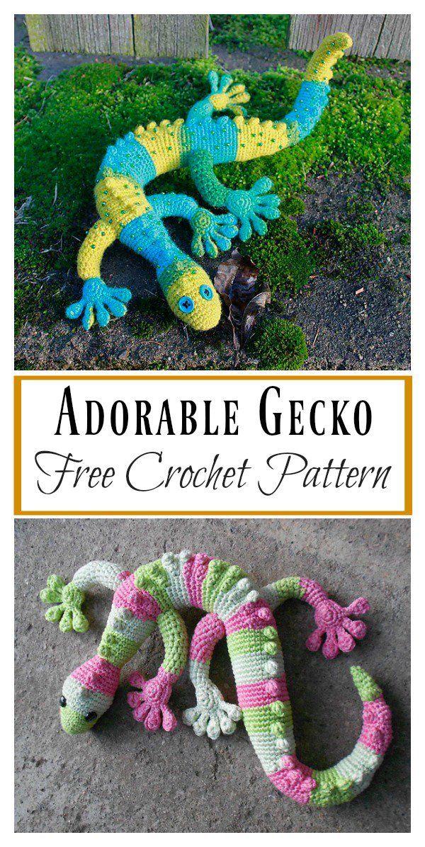 Adorable Gecko Amigurumi Free Crochet Pattern   Pinterest   Häkeln ...