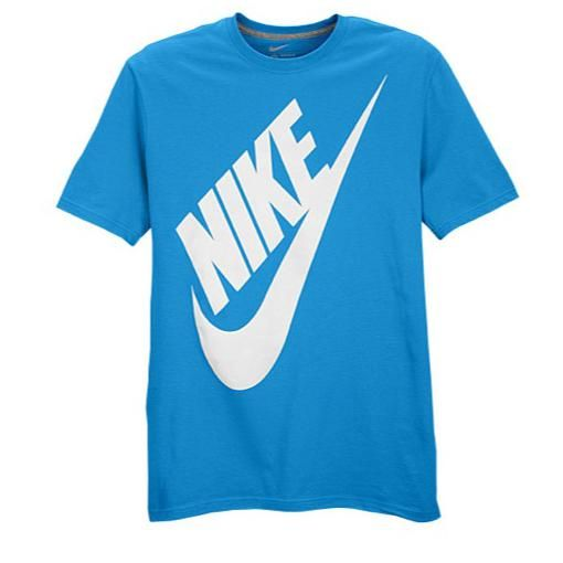 Branded T-Shirt - Nike - in blue color | Mens tshirts, Mens ...