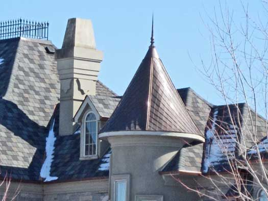 French Roof Fineals Roof Turret With Custom Copper