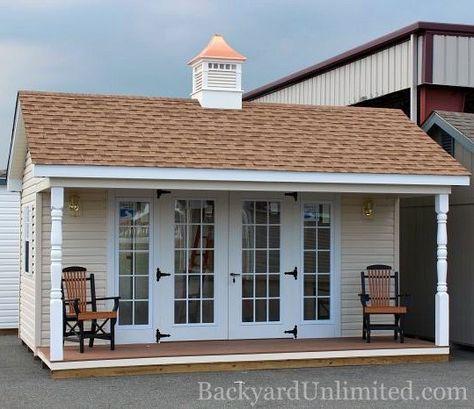12x16 garden shed with vinyl siding 15 lite fiberglass doors with