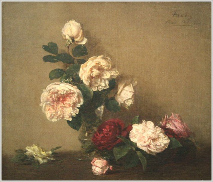 henri fantin latour nature morte avec des roses de dijon art pinterest henri fantin latour. Black Bedroom Furniture Sets. Home Design Ideas