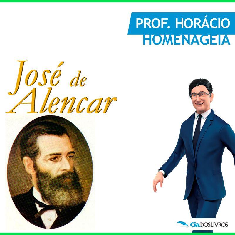 """#ProfHoraciocomenta que em 12 de dezembro do ano de 1877, perdemos José de Alencar! :-(  Um pouco do talento deste grande você confere aqui na Cia.!!! -> http://goo.gl/kmMsU9  José Martiniano de Alencar, foi um jornalista, político, advogado, orador, crítico, cronista, polemista, romancista e dramaturgo brasileiro.  Formou-se em Direito, iniciando-se na atividade literária no """"Correio Mercantil"""" e """"Diário do Rio de Janeiro"""".   Era filho do senador José Martiniano Pereira de Alencar."""