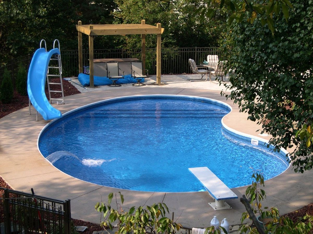 There S An App For That Pool Features Include The Ability To Manage Functions With Mobile Devices Small Pool Design Small Inground Pool Simple Pool