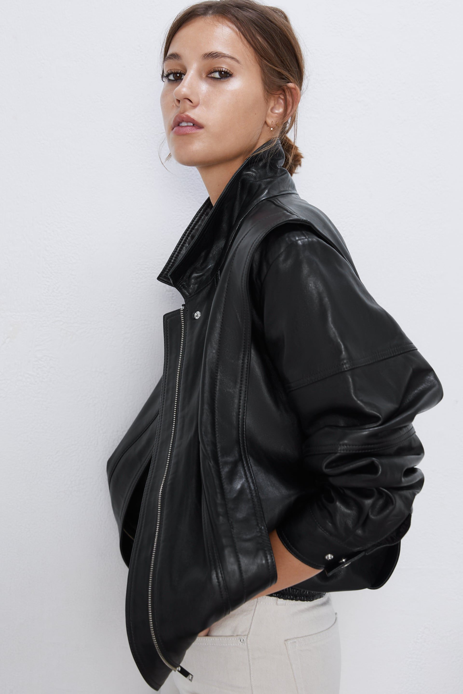 Vintage 80s Leather Jacket Leather Jackets Jackets Woman Zara United States Vintage Leather Jacket Leather Jacket Jackets For Women [ 2880 x 1920 Pixel ]