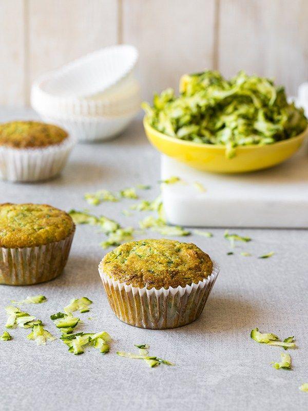 Vegan Zucchini Cornbread Muffins