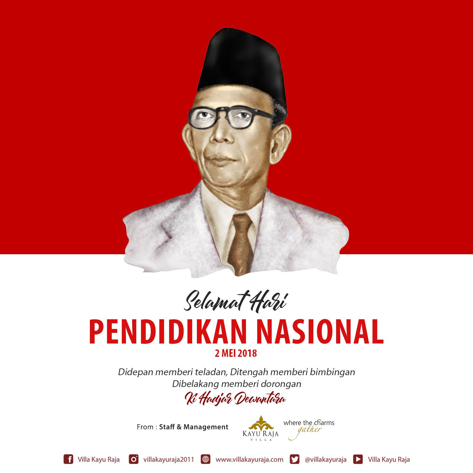 Selamat Hari Pendidikan Nasional 2 Mei 2018