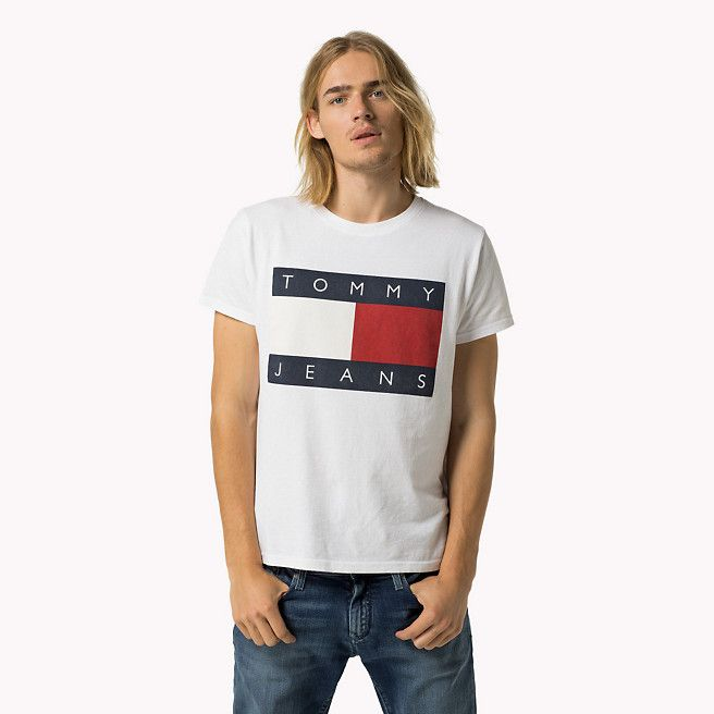 tommy hilfiger logo t shirt classic white white. Black Bedroom Furniture Sets. Home Design Ideas