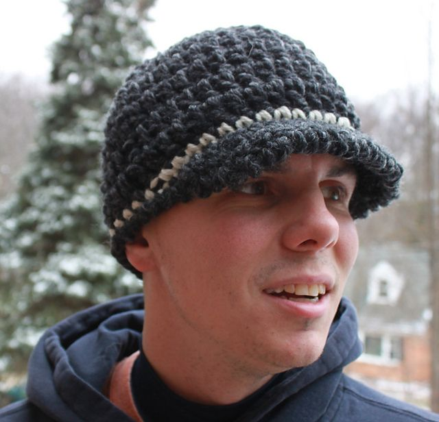 0a29ec4af67 Super Fast   Easy Unisex Brim Hat on Ravelry and links to other great FUN  crochet hats for men on mooglyblog.com