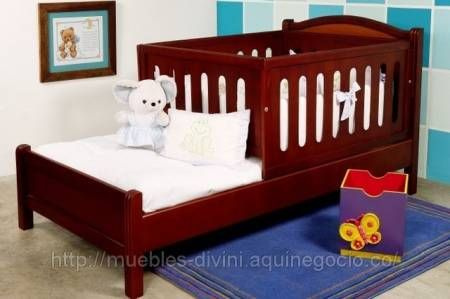 Fotos de cama cuna en madera en promoci n decoraci n bebe pinterest bb babies and ideas para - Cuna cama para bebe ...