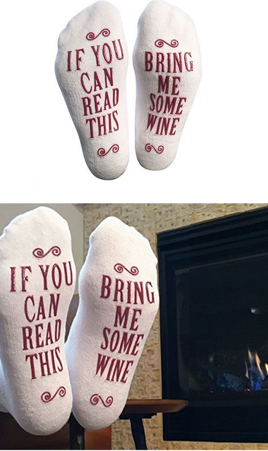 Bring Me Some Wine Socks Mothers Day Gifts on a Budget