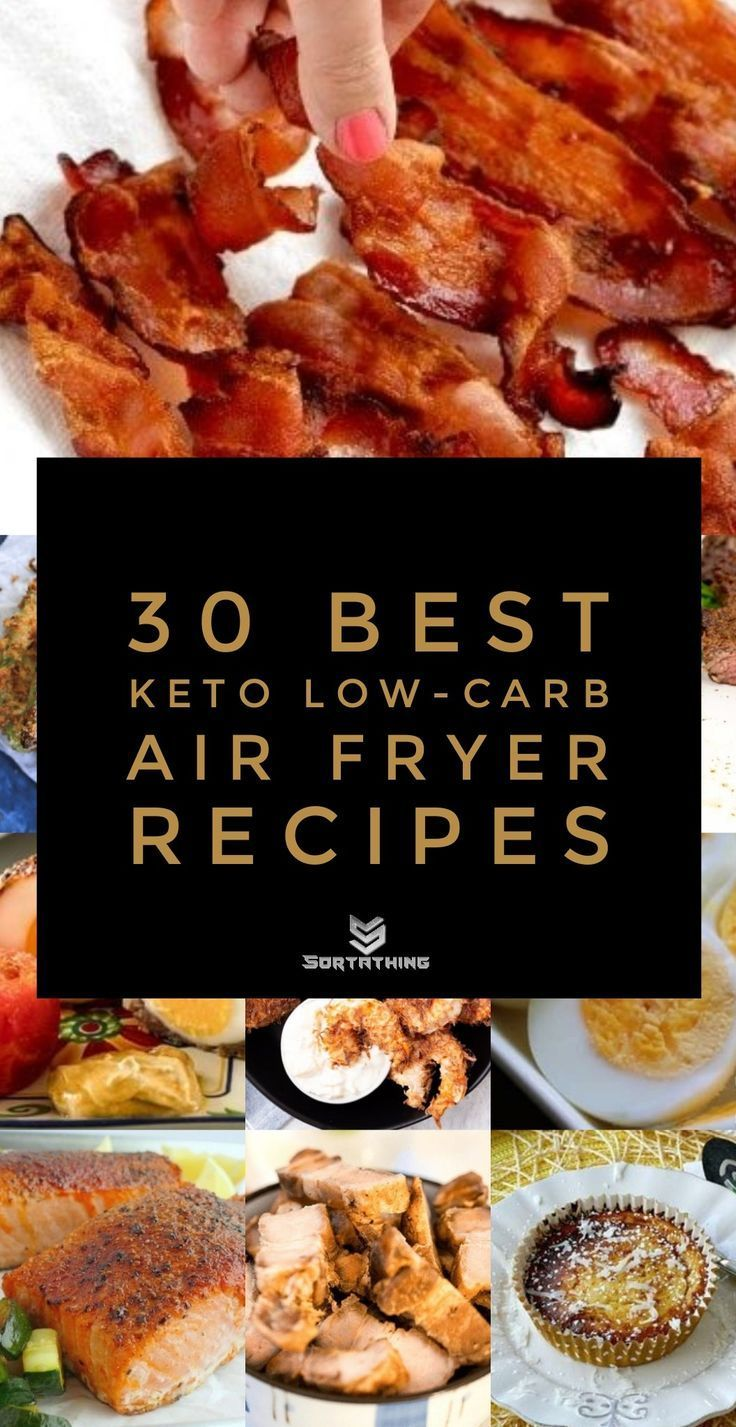 30 Best Low-Carb Keto Air Fryer Recipes - New Ideas #airfryerrecipes