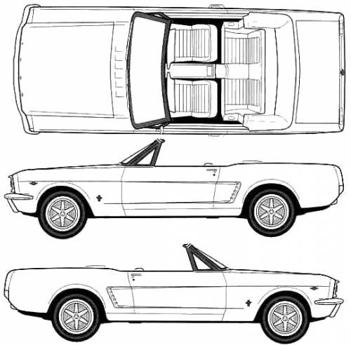 image result for ford mustang 1964 blueprint