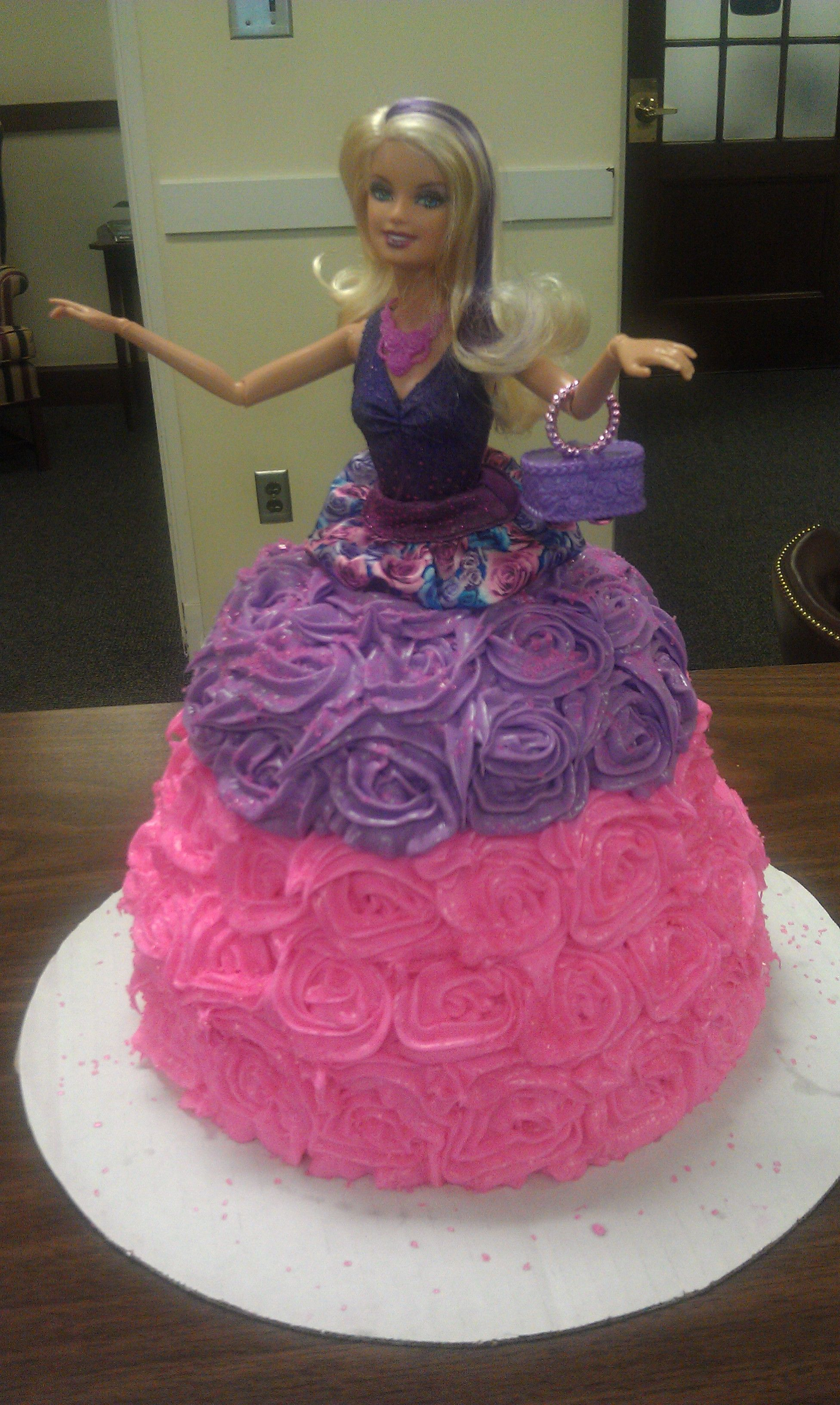Barbie Doll Cake With Barbie Fashionista Standing On A