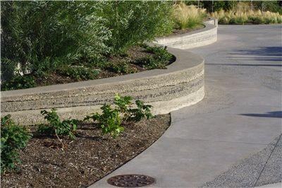 Concrete Artistry Lithocrete Sedimentary Walls Variety Of Locally Harvested Rocks Pebbles Aggregates Poure Concrete Decor Concrete Design Amazing Gardens