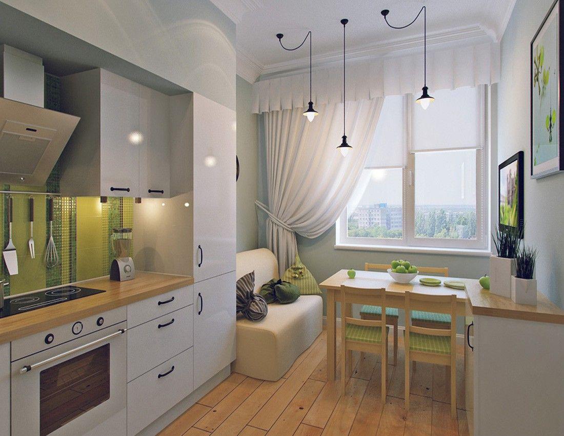 кухня гостиная 11 кв м дизайн фото с диваном