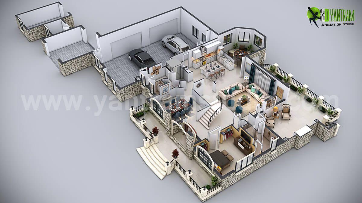 3d Floor Plan Commercial Designs Planos De Casas Planos 3d