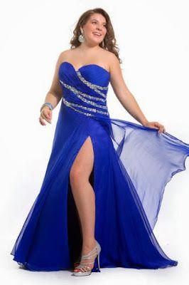 Vestidos de fiesta para gorditas azul rey