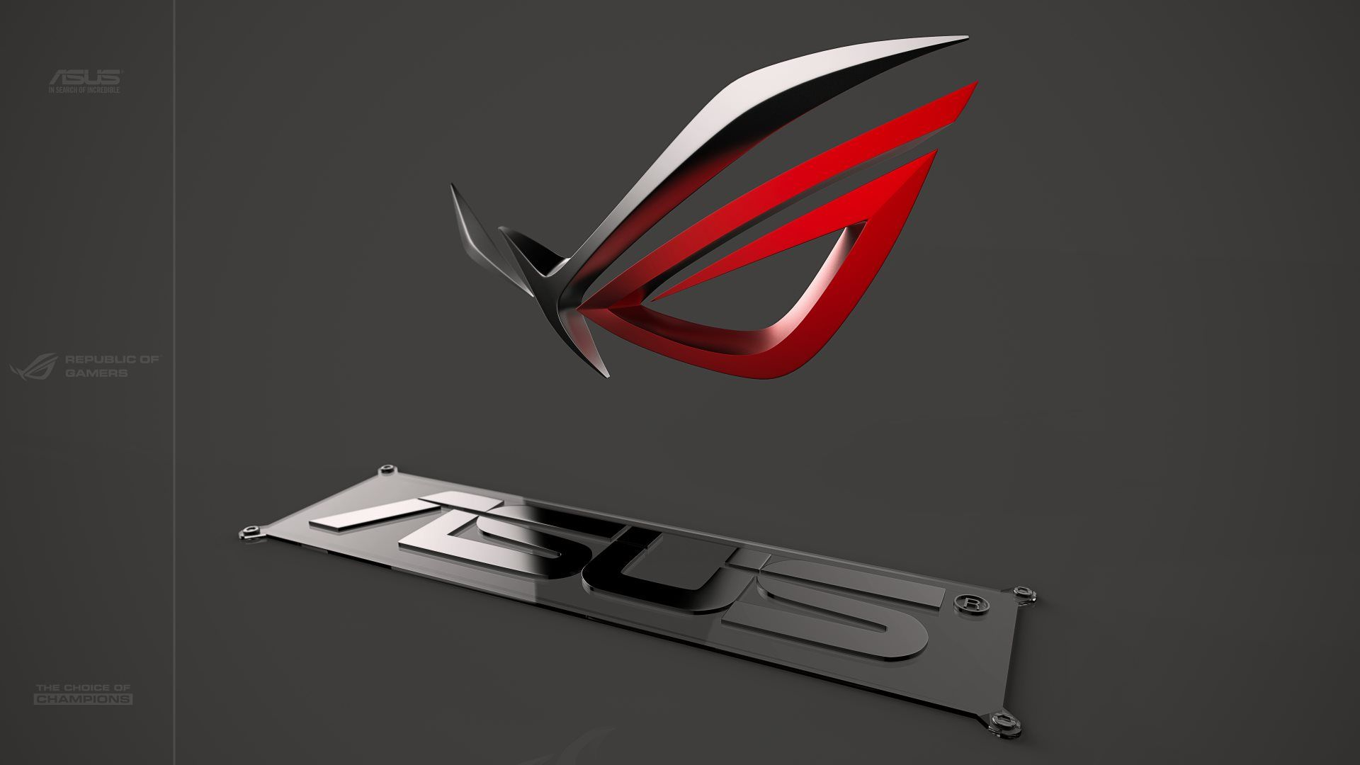 3d Asus Rog Republic Of Gamers Logo Walpaper The Republic Of