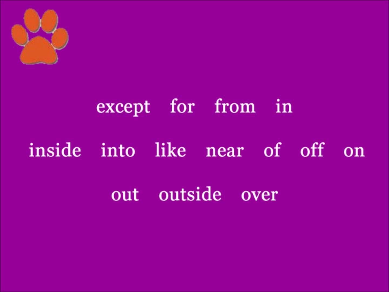 Shurley Grammar Preposition Jingle