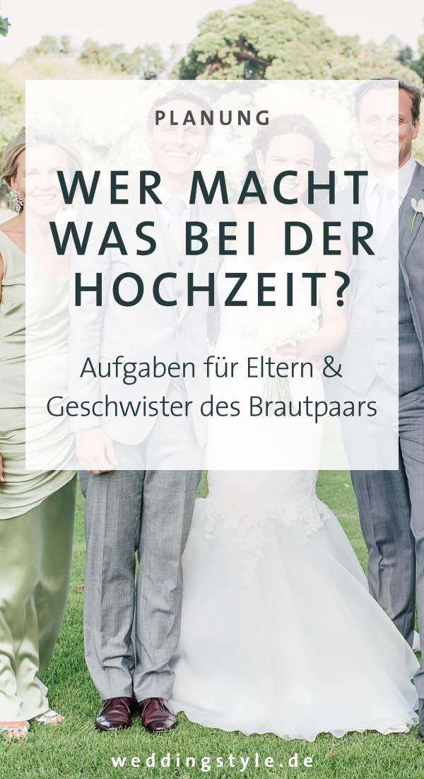 Aufgabenverteilung - Wer macht was bei eurer Hochzeit? #dekorationhochzeit