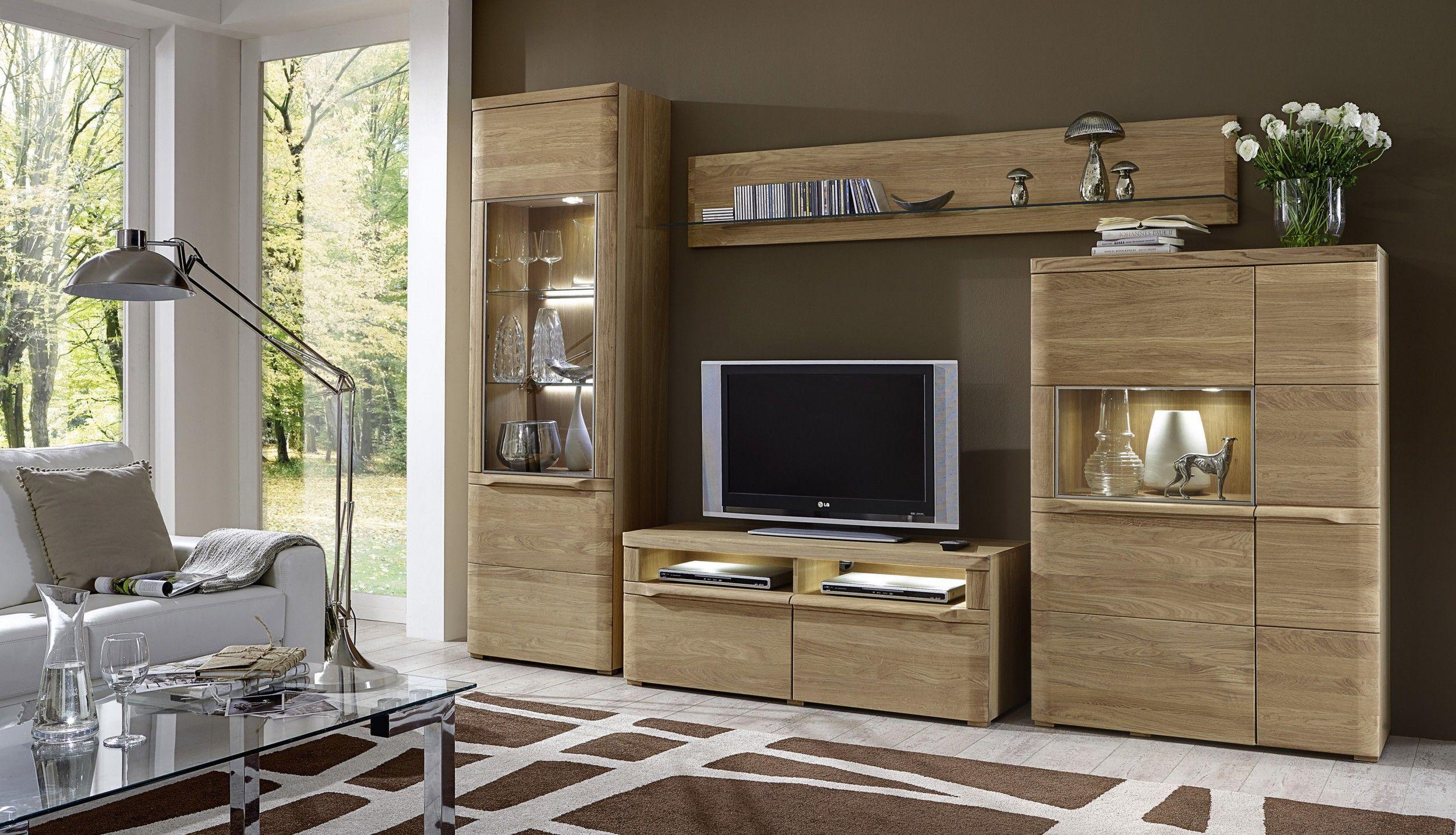 mbel eiche massiv modern latest wohnwand echtholz eiche komplett mbel pfister wei modern with. Black Bedroom Furniture Sets. Home Design Ideas