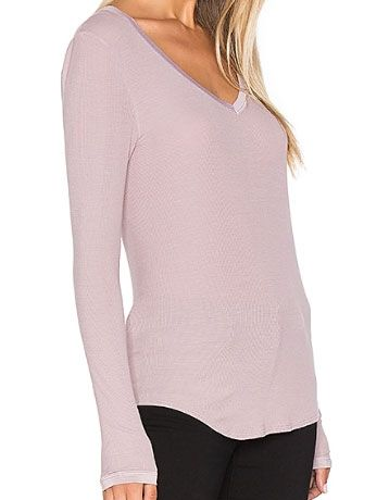 Lucy Long Sleeve in Rose Ash