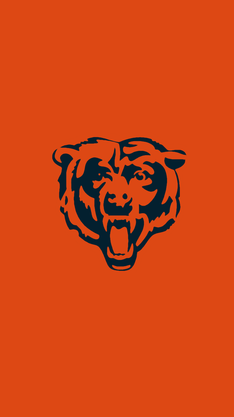 Minimalistic Nfl Backgrounds Nfc North Bears Football Chicago Bears Nfl Chicago Bears