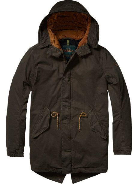 Scotch & Soda Green Parka - Trouva