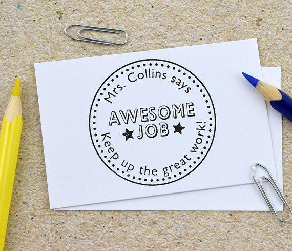 Personalized Teacher Stamp Teacher Stamp This Book Belongs
