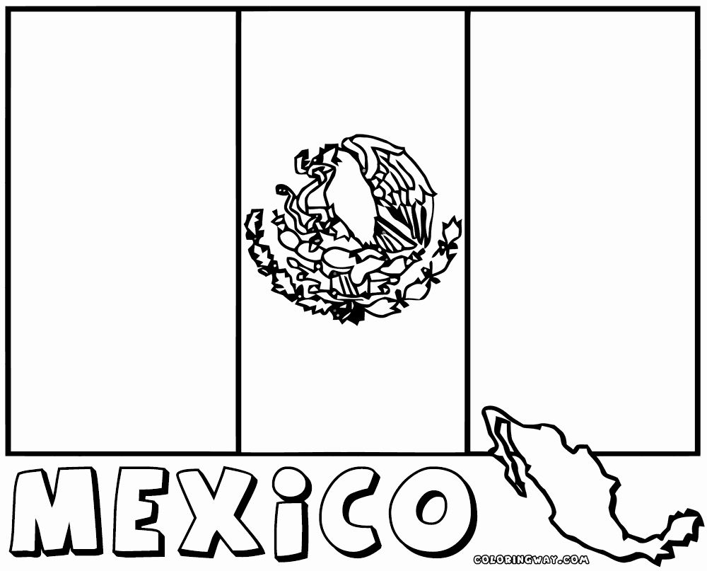 Mexico Flag Coloring Page Inspirational Mexican Flag Coloring Pages In 2020 Flag Coloring Pages Printable Coloring Pages Flag Printable
