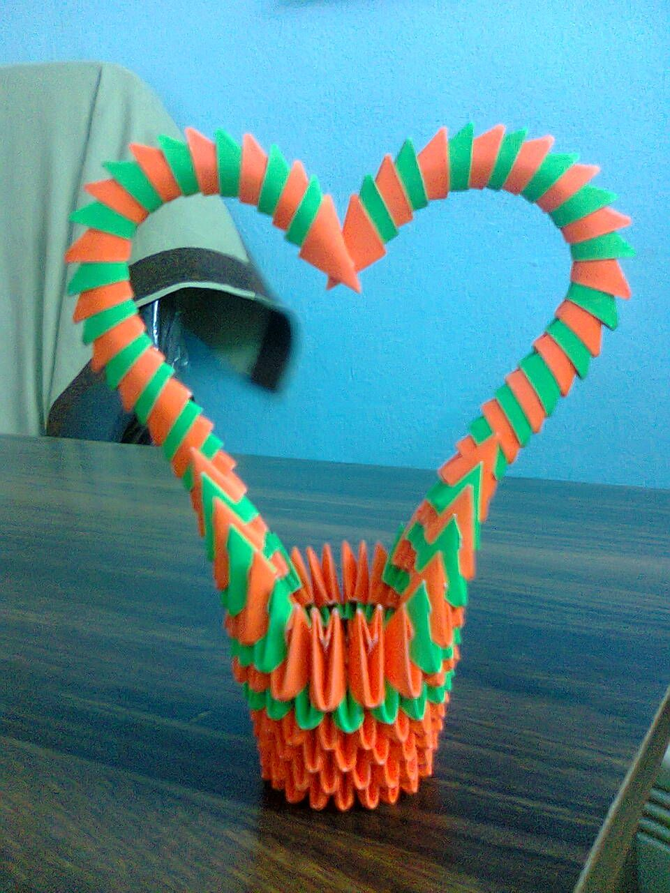 3d origami heart shape basket 3d origami arts pinterest 3d 3d origami heart shape basket jeuxipadfo Gallery