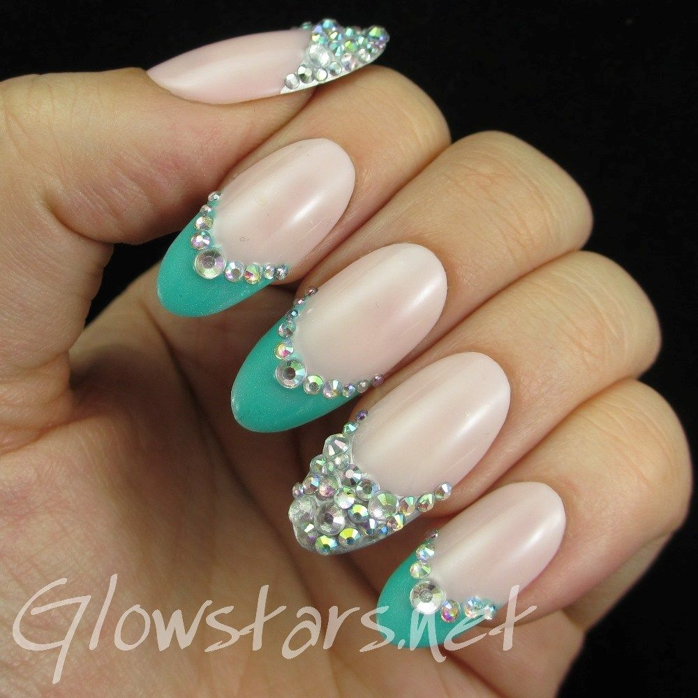 Turquoise Rhinestone French Tips: A manicure using All That Jazz My ...