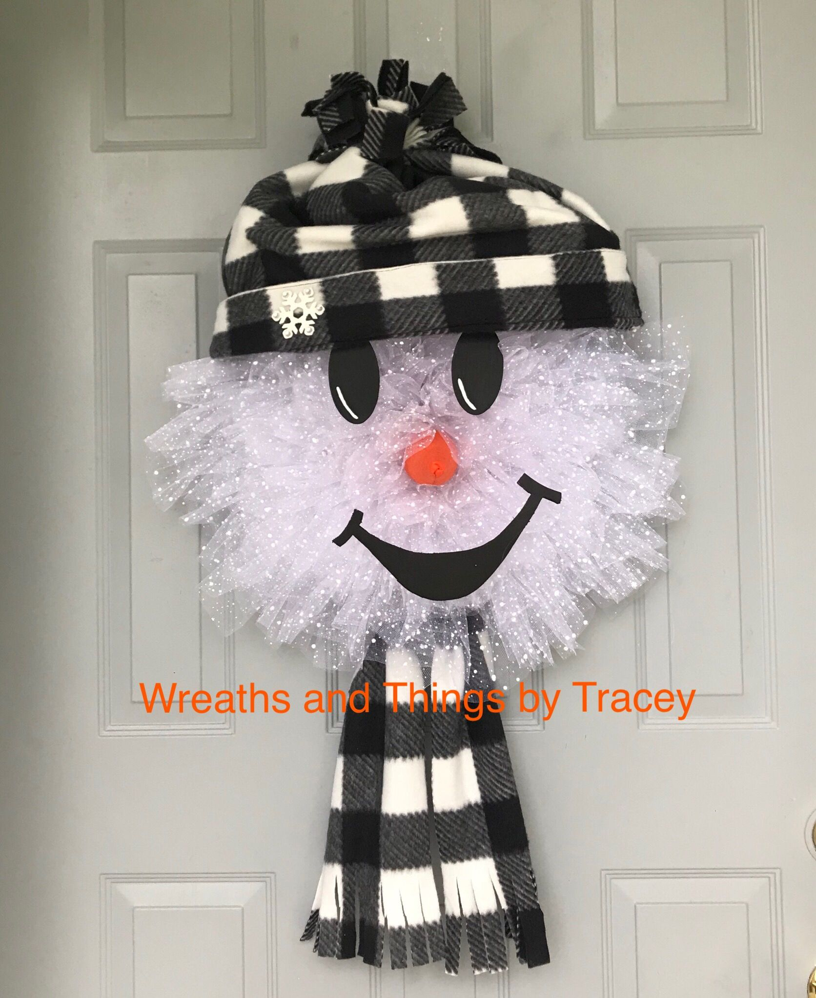 Mesh Snowman 2018 Wreaths and Things by Tracey