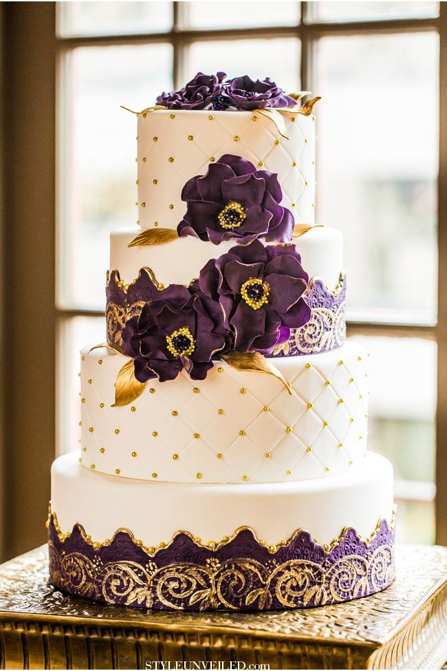 Eastern Indian Wedding Inspiration / Purple and Gold Wedding ...