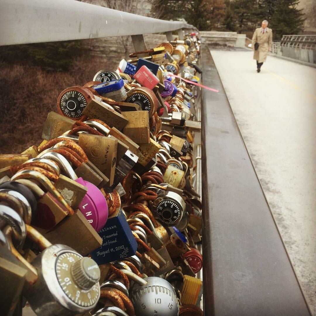 When Traveling to Ottawa, Canada; if you are a couple make sure you stop by the Rideau canal bridge to lock your love ❤️