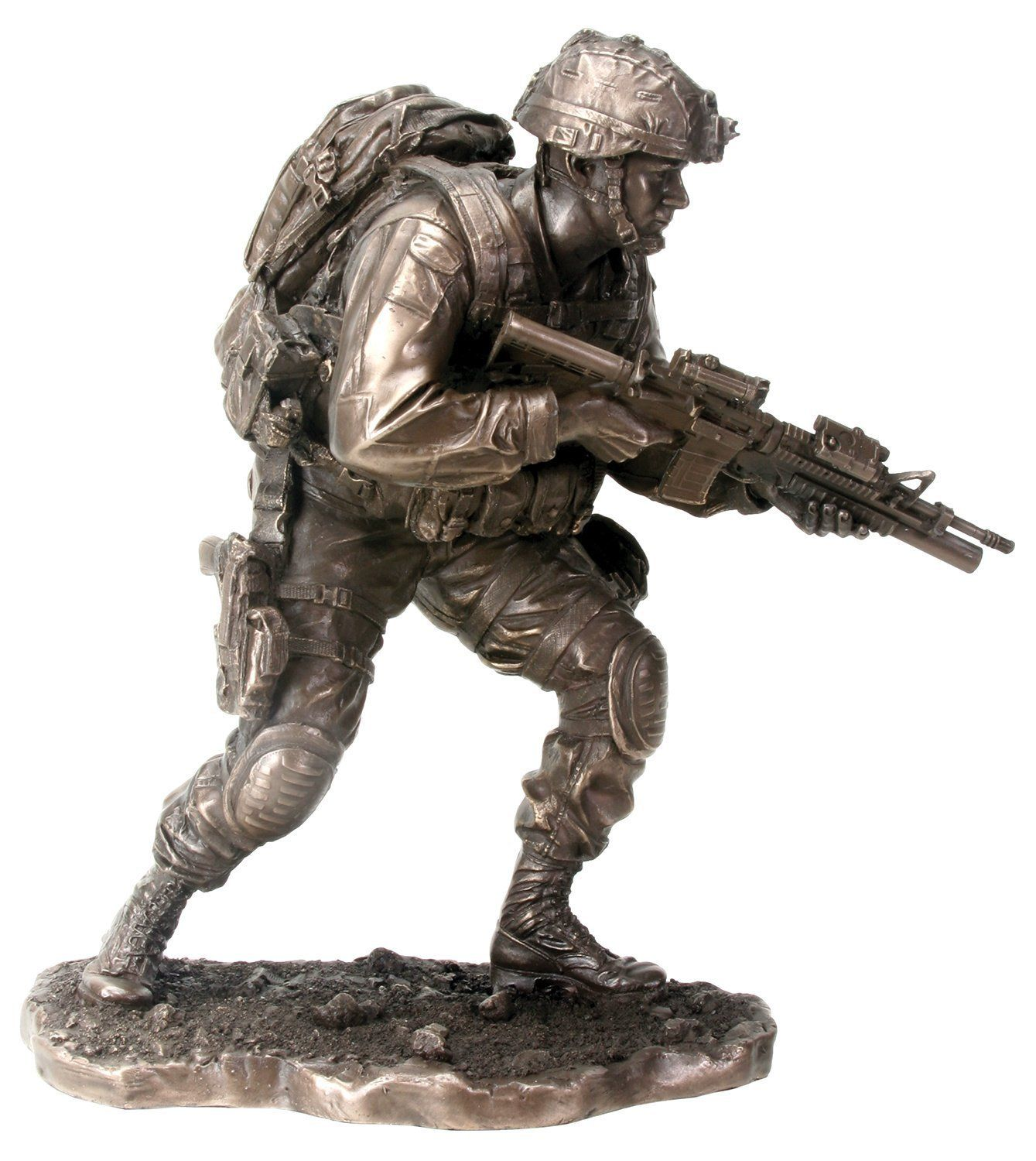 On the move soldier army black ops statue sculpture